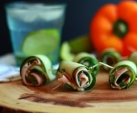 Upgrade Your School Lunch with Cucumber Turkey Roll-Ups! | thegoodstuff