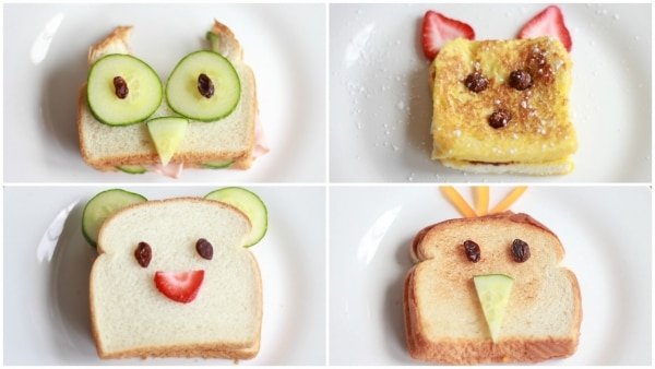 4 Adorable Lunchbox Sandwich Ideas for Kids' School Lunches | thegoodstuff