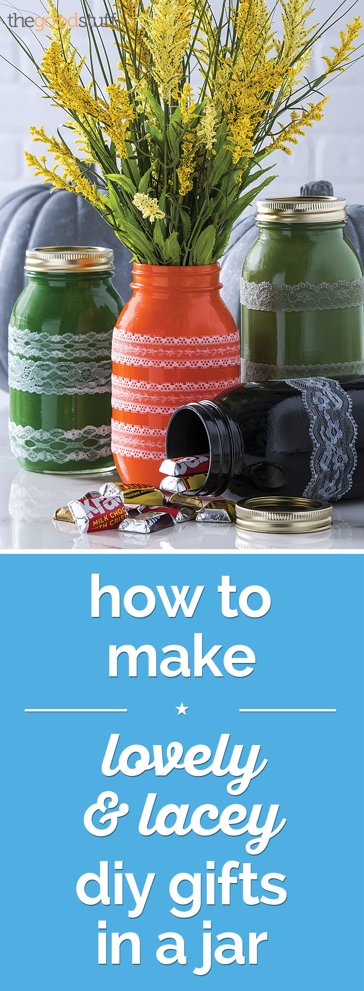 How to Make Lovely & Lacey DIY Gifts In a Jar | thegoodstuff