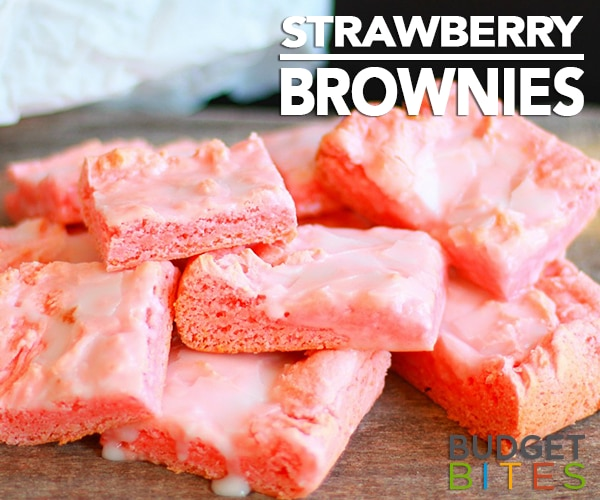 This Easy Strawberry Brownies Recipe Is Outrageously Tasty   thegoodstuff