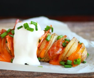 This Cheesy Hasselback Potatoes Recipe Will Rock Your World | thegoodstuff