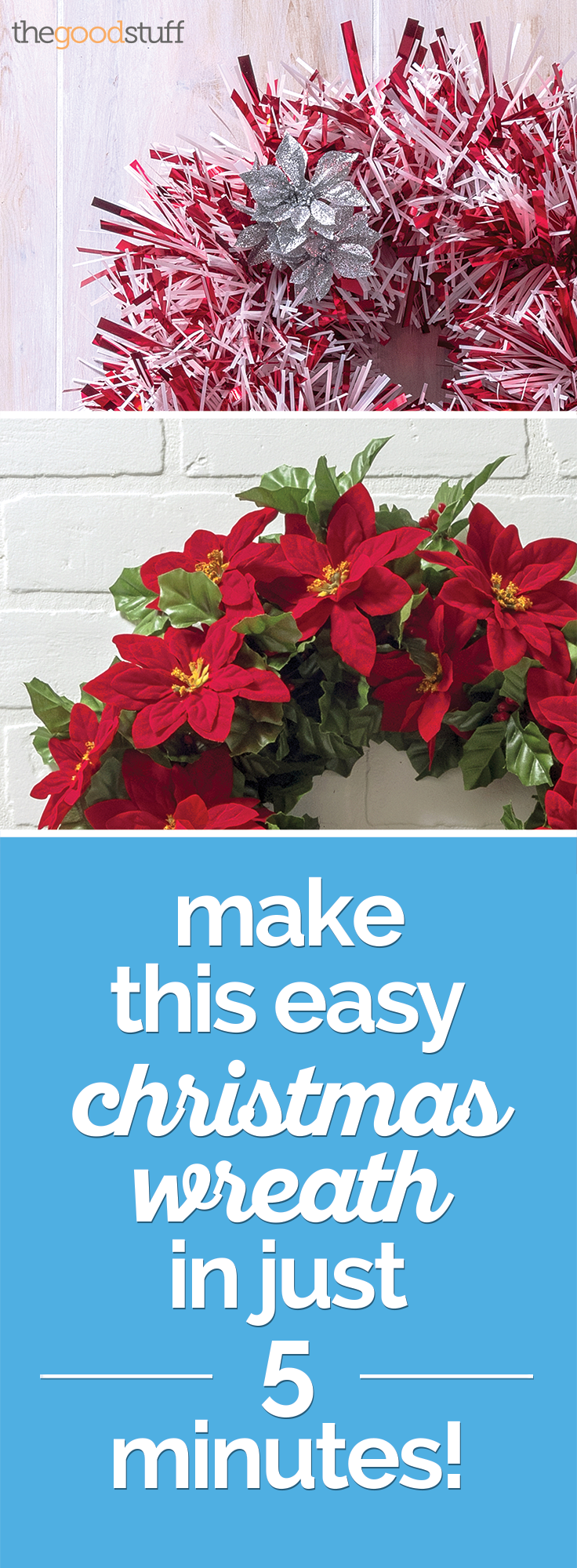 How to Make a Christmas Wreath — in Just 5 Minutes! | thegoodstuff