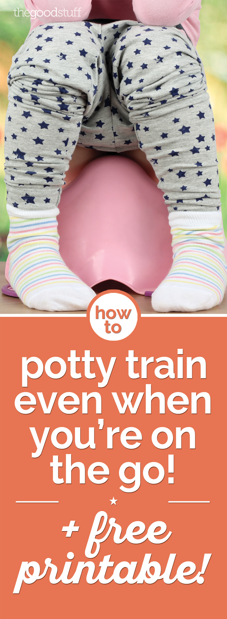 How to Potty Train Even When You're on the Go + Free Printable! | thegoodstuff