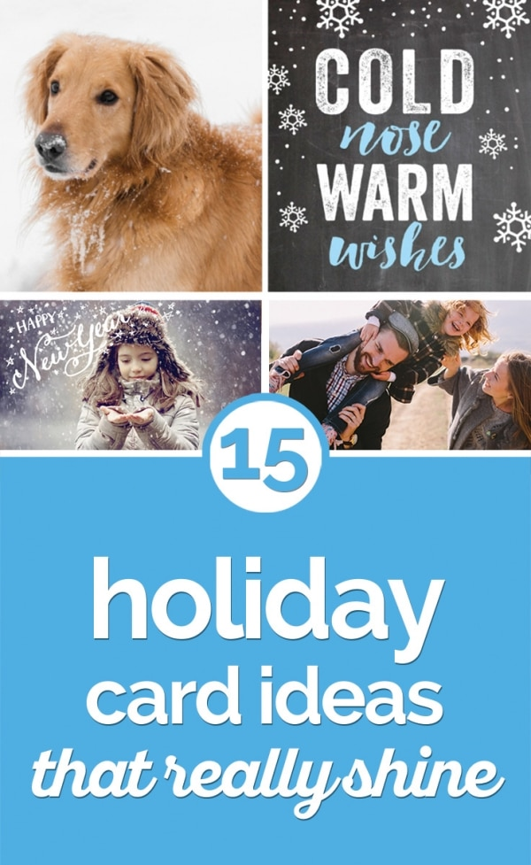 15 Holiday Card Ideas That Really Shine | thegoodstuff