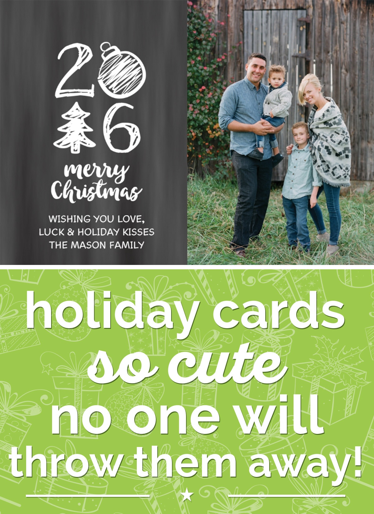 Holiday Cards So Cute No One Will Throw Them Away | thegoodstuff