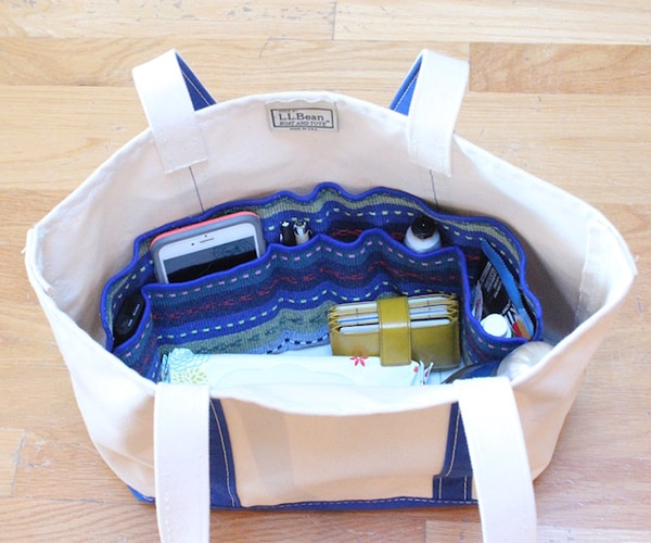 How to Make an Easy DIY Purse Organizer - thegoodstuff