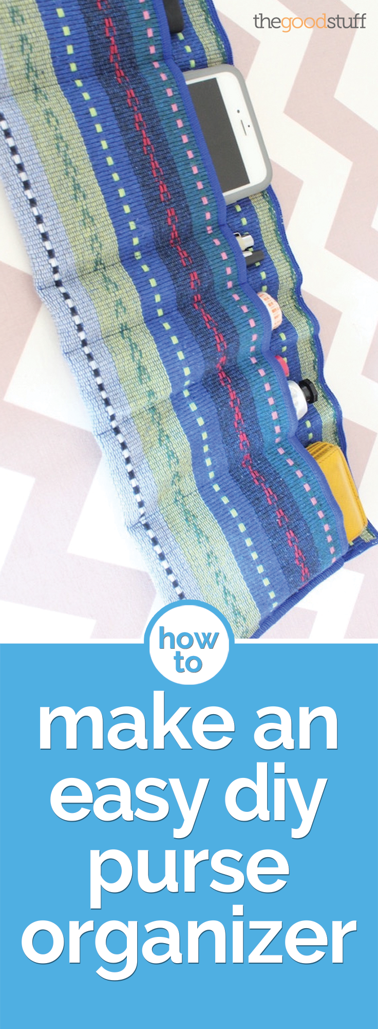 How to Make an Easy DIY Purse Organizer | thegoodstuff