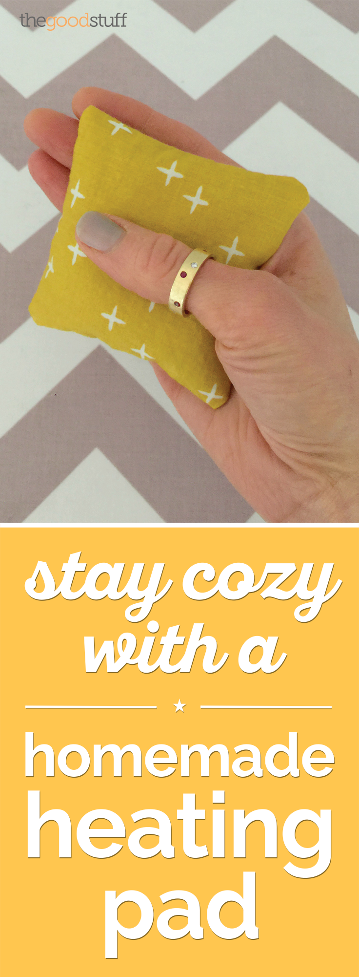 Stay Cozy with a Homemade Heating Pad [DIY] | thegoodstuff
