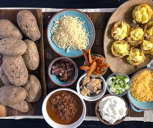 This Baked Potato Bar Is a Football Fan Favorite | thegoodstuff