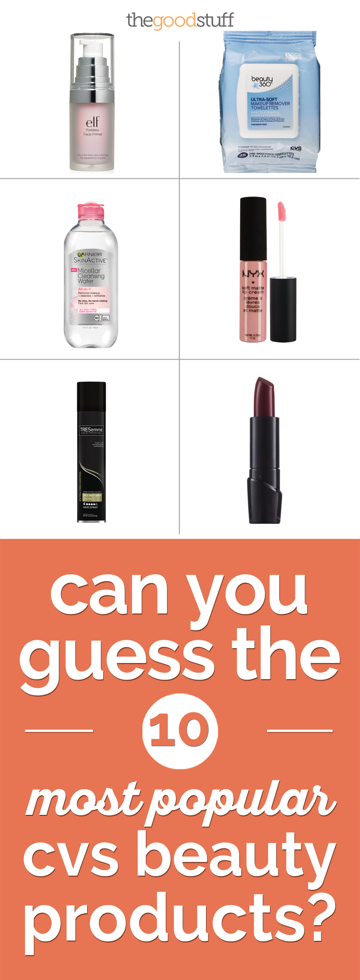 can you guess the 10 most popular cvs beauty products