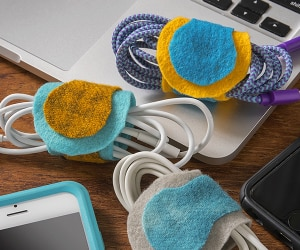 No More Tangled Up Cables with this Cord Organizer DIY! | thegoodstuff