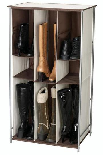 This Customizable Shoe Organizer Solves Your Boot Storage Problems With  Adjustable Cubby Holes To Hold All Types Of Boots.