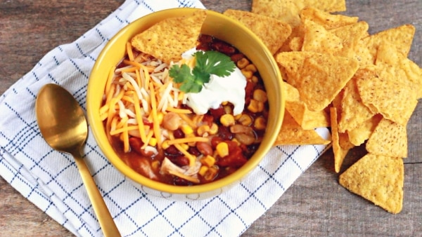 This Slow Cooker Chicken Taco Soup is the Perfect Winter Meal | thegoodstuff