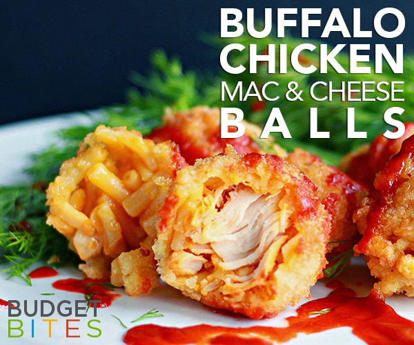 These Buffalo Chicken Mac & Cheese Balls are a Fab Football Snack | thegoodstuff