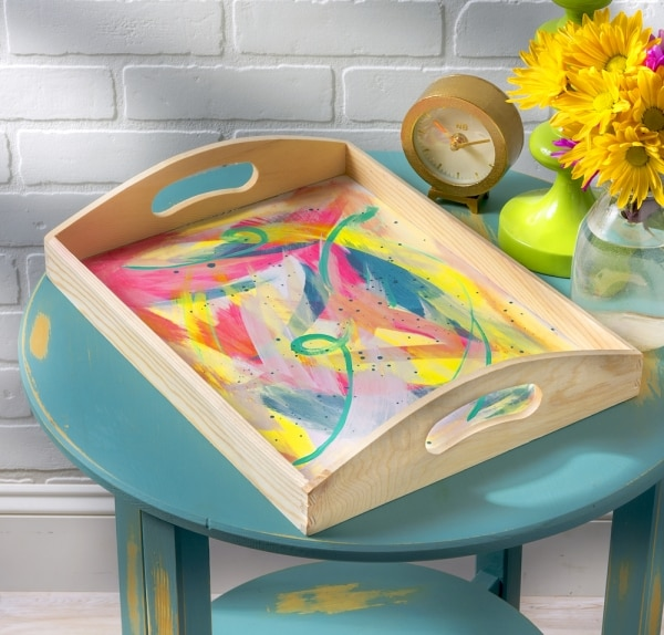 Easy DIY Bed Tray | thegoodstuff