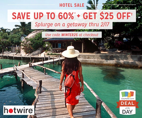 Hotwire is ready to help with a little extra savings on Hot Rate® hotels. Save $20 on any booking over $ at Hot Rate® hotels everywhere from Chicago to Orlando to Atlanta. Check out more great savings for Hotwire at narmaformcap.tk Deal Details: Click through to get $20 off Hot Rate® hotel bookings over $ Discount applied at checkout.