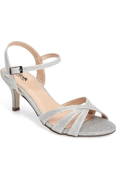 Silver Kitten Heel Sandals Under $50 | thegoodstuff