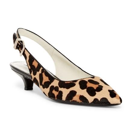 Leopard Slingback Kitten Heels Under $50 | thegoodstuff