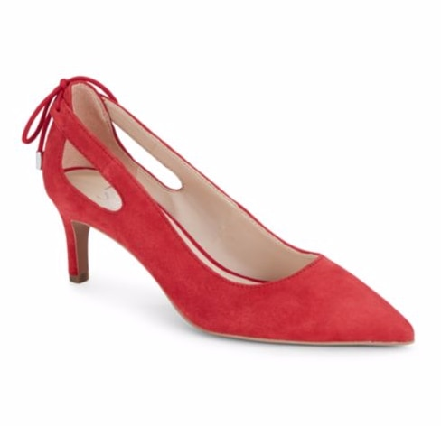 Red Kitten Heel Pumps Under $50 | thegoodstuff