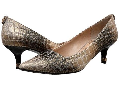 Faux Crocodile Skin Low Heel Pumps Under $50 | thegoodstuff