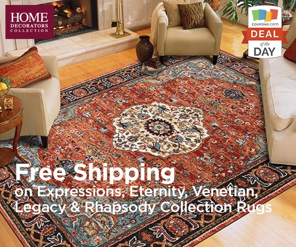 Deal of the day free shipping on rugs at home decorators for Home decorators shipping code