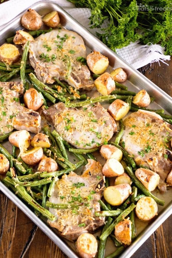 Parmesan Baked Pork Chops Recipe | thegoodstuff