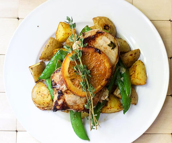 Orange-Honey-Thyme Pork Chop Recipes | thegoodstuff