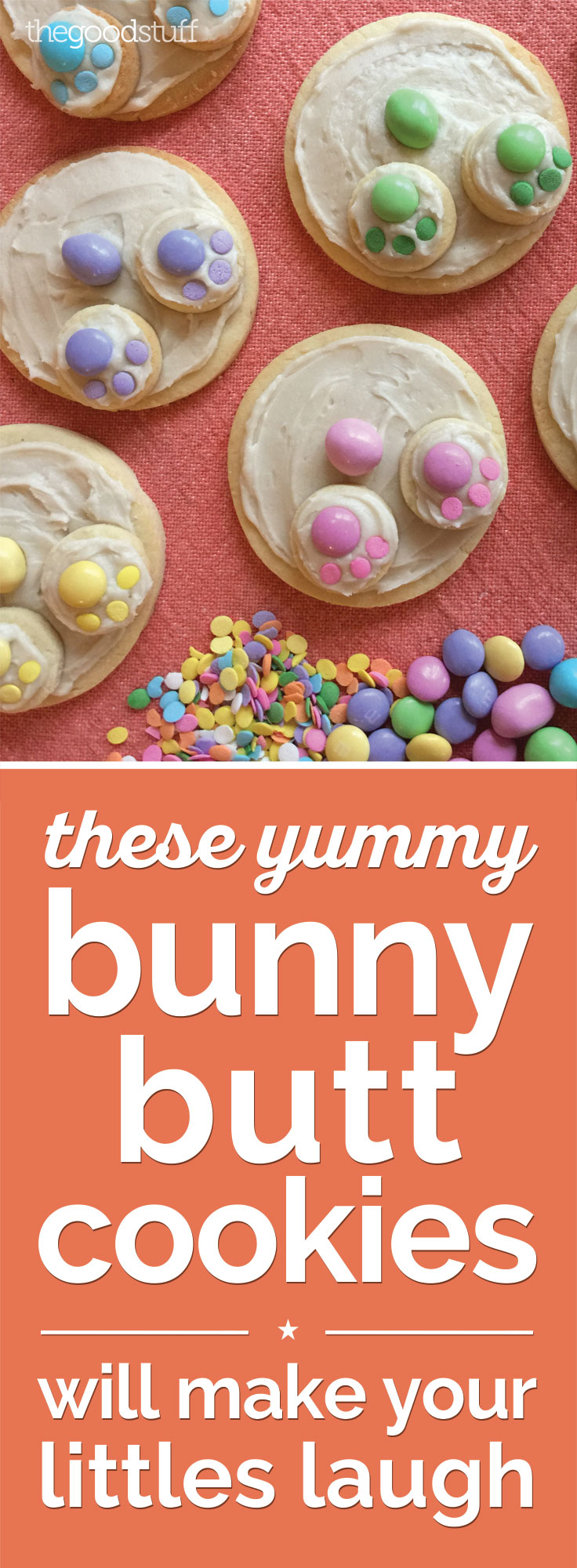 Easter Cookie Recipes: Bunny Butt Cookies | thegoodstuff