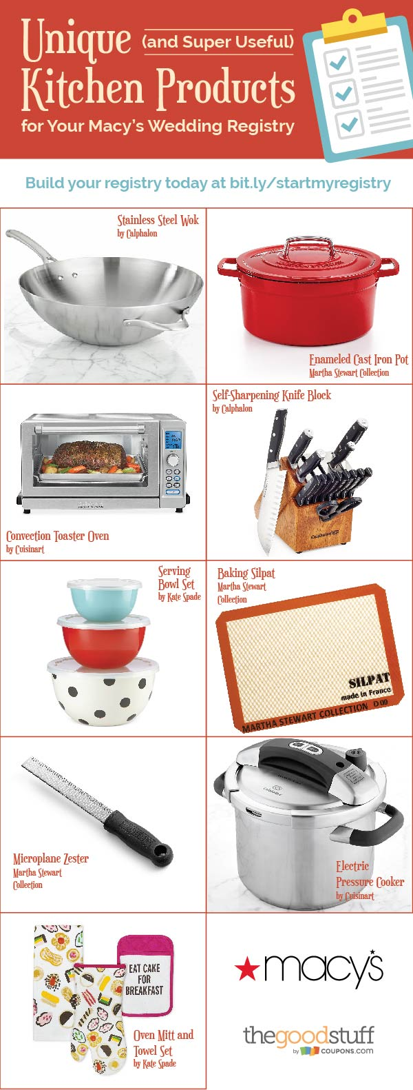 Add These Awesome Kitchen Gadgets to Your Macy's Wedding Registry | Coupons.com