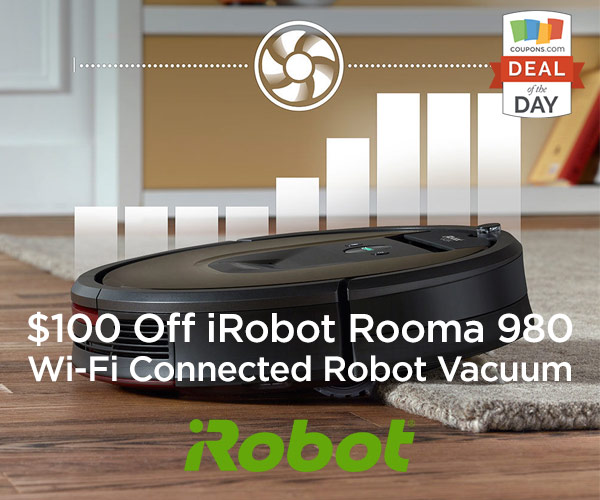 Deal Of The Day 100 Off Irobot Roomba 980 Thegoodstuff
