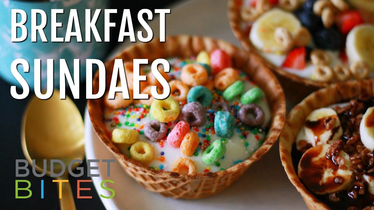 Breakfast Sundaes Title