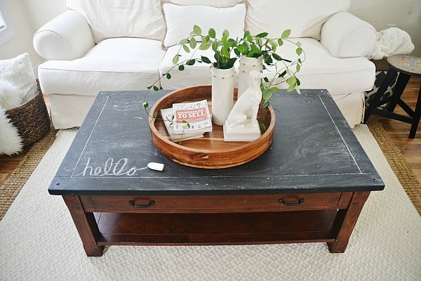 11. chalkboard coffee table