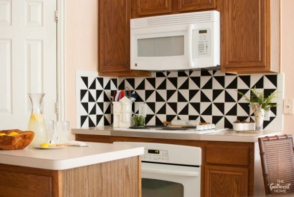12. vinyl backsplash