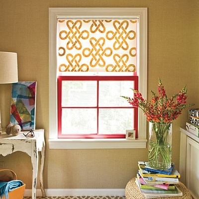 7. stenciled window shade