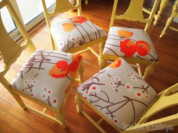 9. reupholstered dining room chair