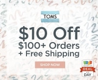 deal of the day 10 off at toms