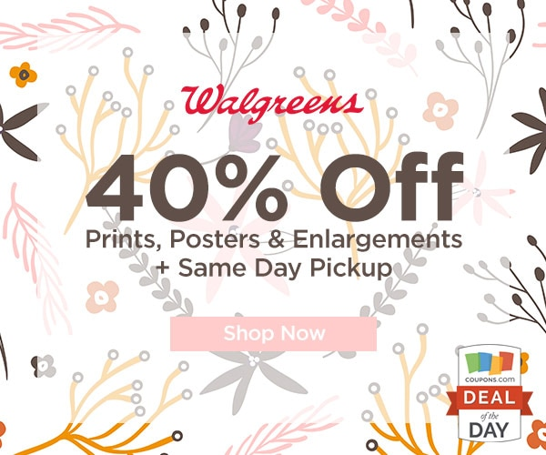 Deal of the Day: 40% Off at Walgreen's Photo - thegoodstuff