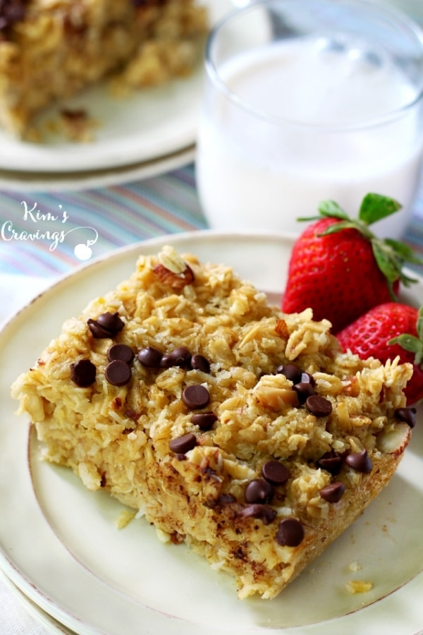 2. Almond Joy Baked Oatmeal Bars