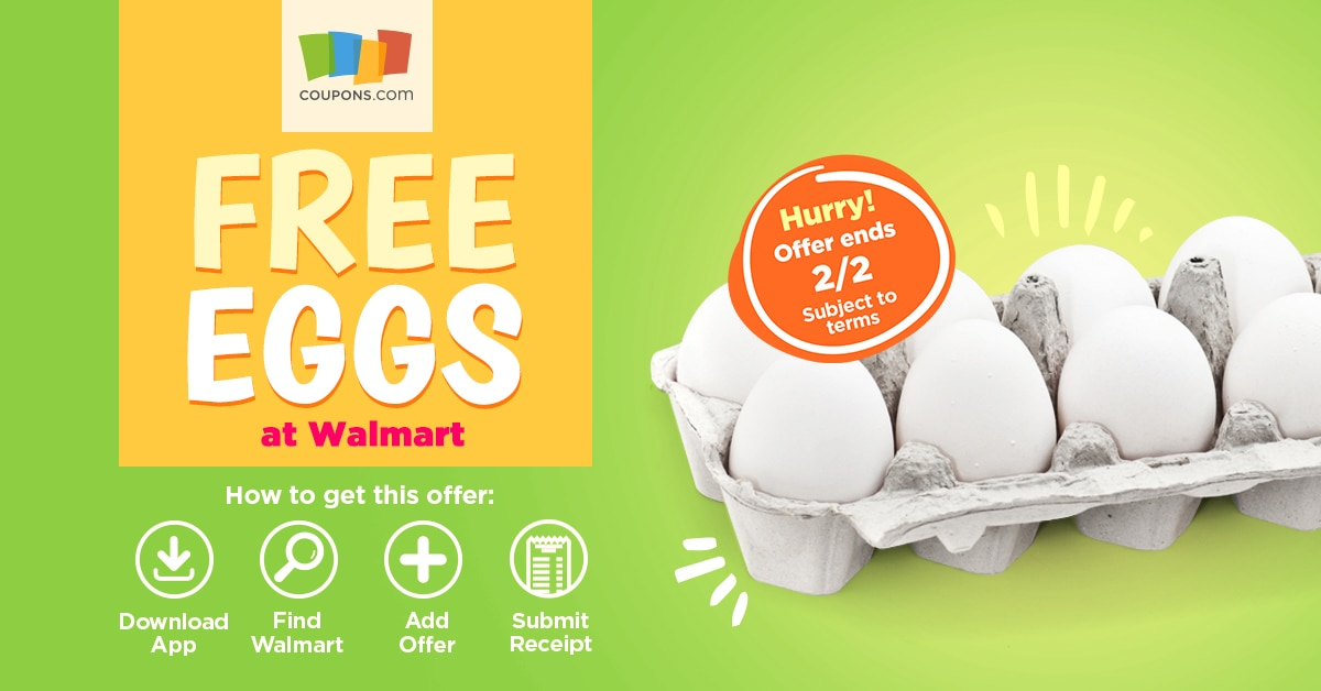 Coupons.com App - Free Eggs