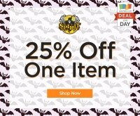 deal of the day 25 off at spirit halloween