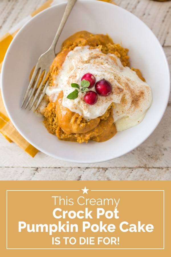 This Creamy Crock Pot Pumpkin Poke Cake is to Die For! | Coupons.com