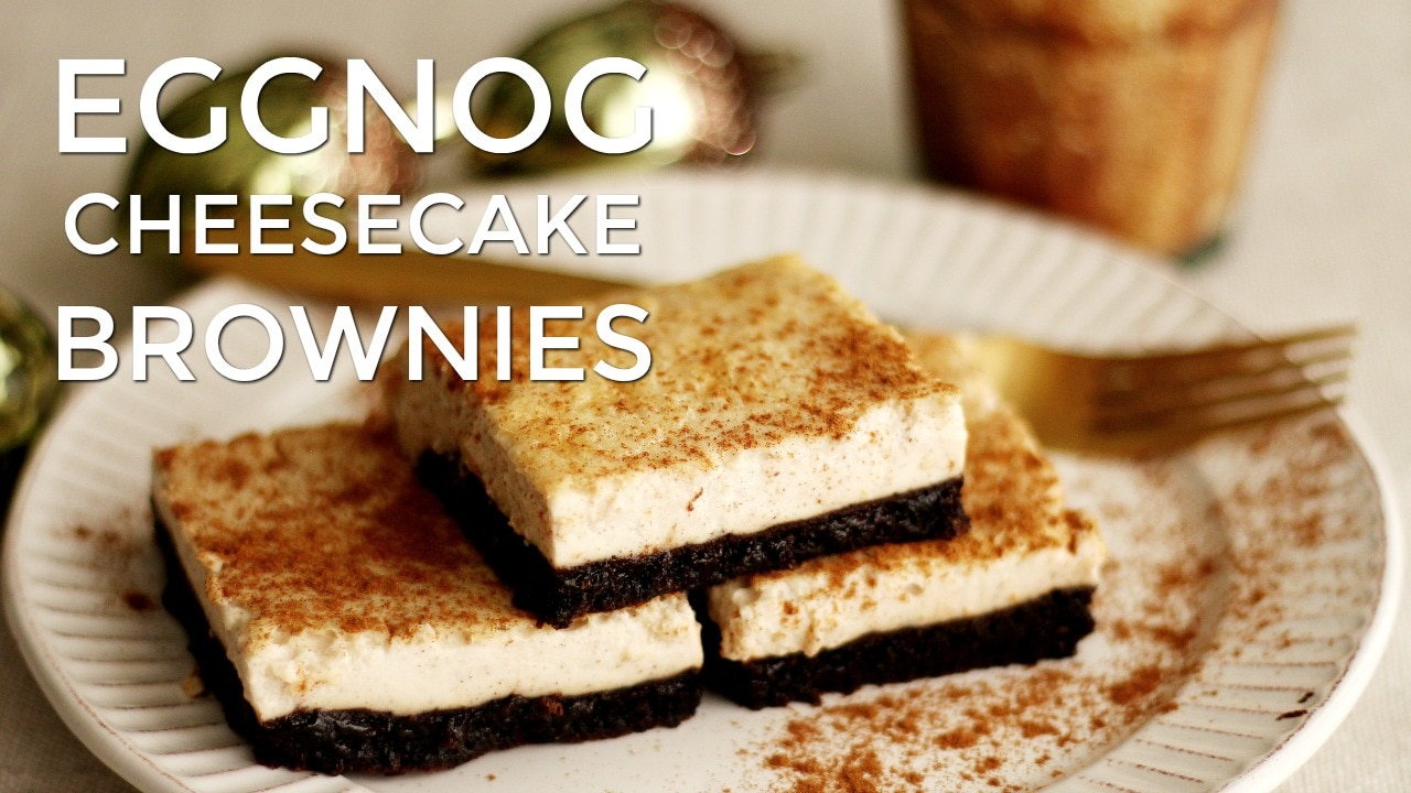 Eggnog Cheesecake Brownies