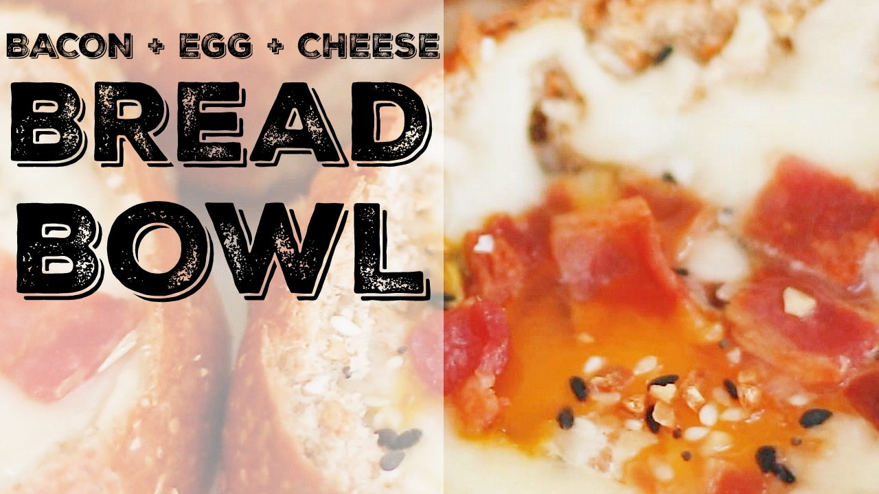 Bacon Egg And Cheese Bread Bowls Thegoodstuff