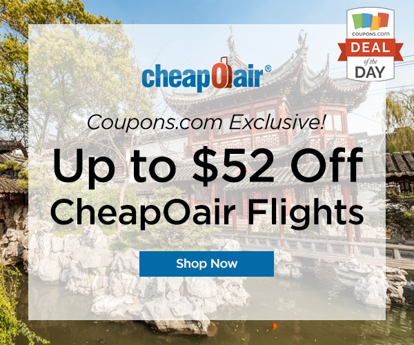 Deal of the Day: Up to $52 Off at CheapOair - thegoodstuff