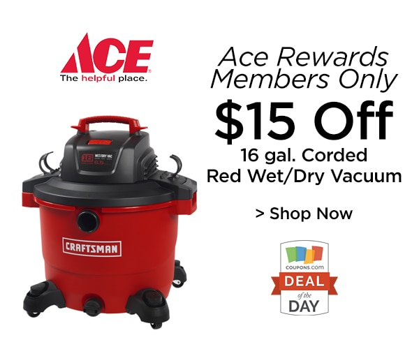 Deal Of The Day: $15 Off Wet/Dry Vacuum At Ace Hardware