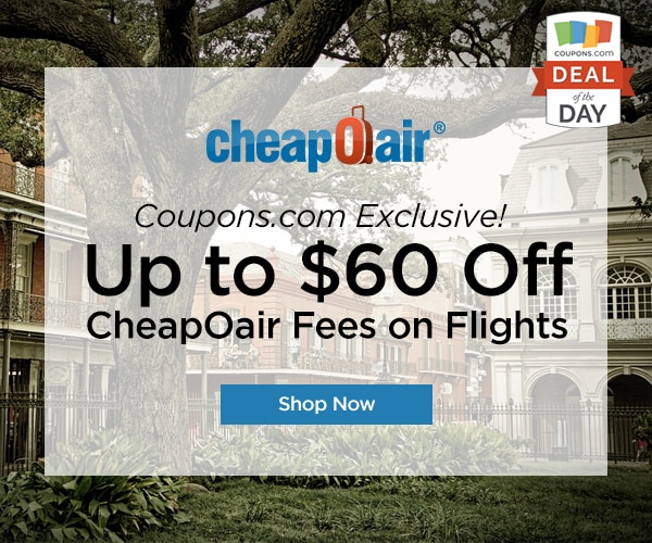 Deal of the Day: Up to $60 Off at CheapOair - thegoodstuff