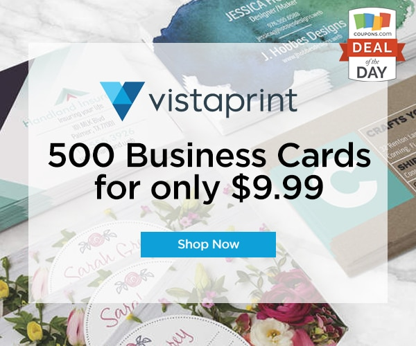 Deal of the Day: $9 99 for 500 Vistaprint Business Cards