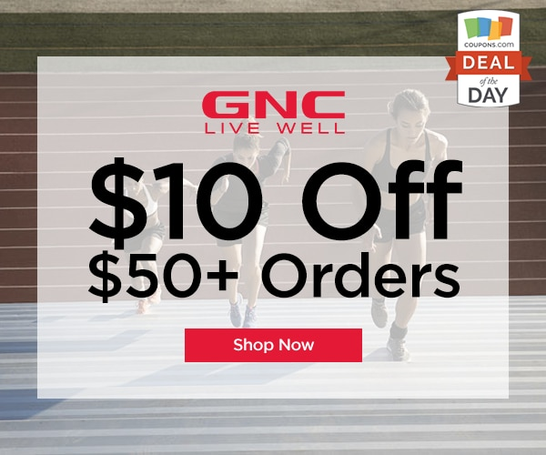photograph relating to Gnc Printable Coupons 10 Off 50 referred to as Bundle of the Working day: $10 Off $50 at GNC - thegoodstuff