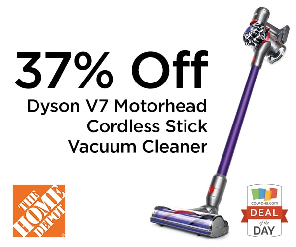 graphic regarding Dyson Printable Coupon named Package of the Working day: 37% Off Dyson V7 Motorhead Vacuum