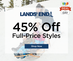 Deal of the Day: 45% Off at Lands' End